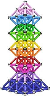 Veatree 160 st magnetiska byggpinnar leksaker, magnetiskt konstruktionsset leksaker och pedagogiskt stapelbara pusselleksa...