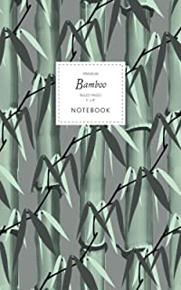 Bamboo Notebook - Ruled Pages - 5x8 - Premium: (Dark Grey Edition) Notebook 96 ruled/lined pages (5x8 inches / 12.7x20.3cm...