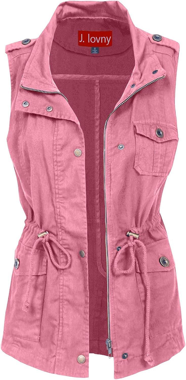 J. LOVNY Women's Versatile Military Anorak Jacket Vest in Various Styles