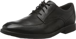 ROCKPORT Men's Dressports Formal Modern Apron Toe Uniform Dress Shoes, Black