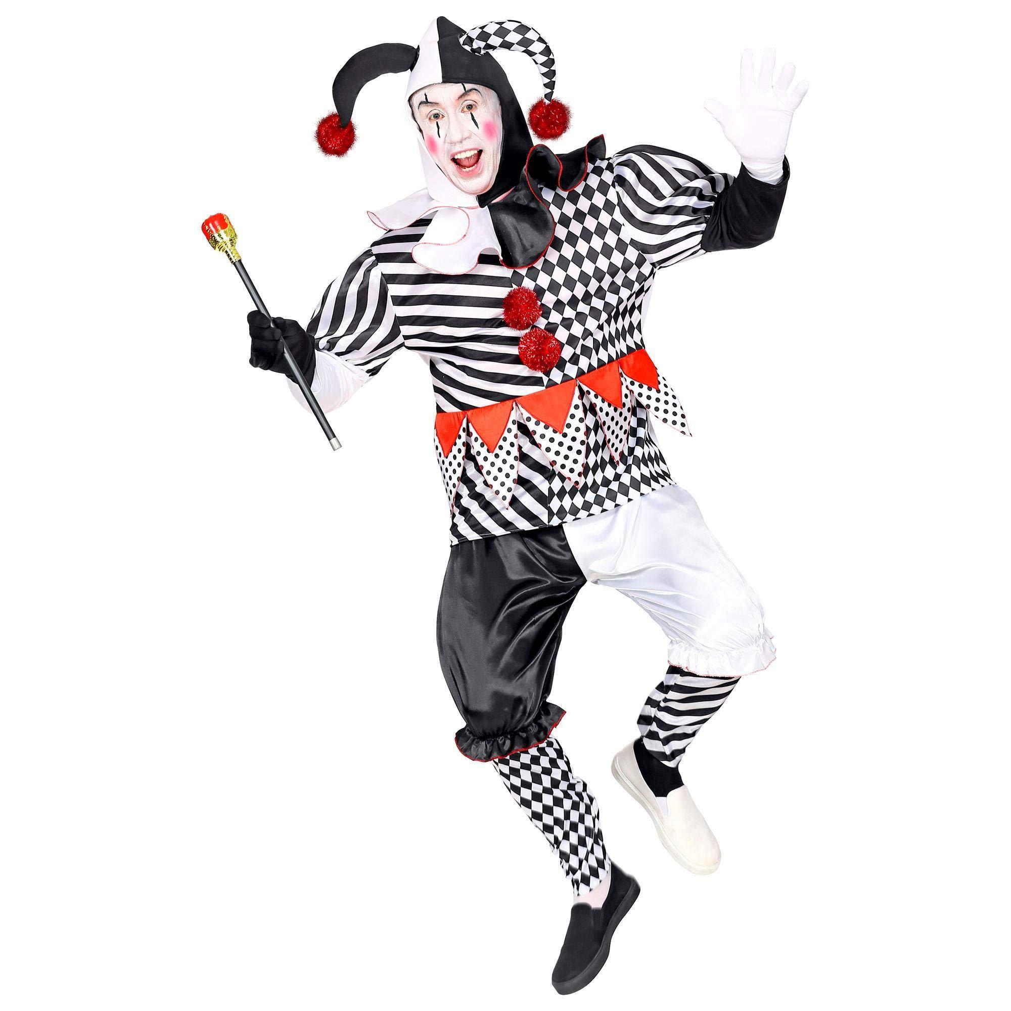 WIDMANN 09504 - Disfraz de arlequín para hombre, negro/blanco, XL ...