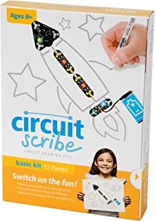 Circuit Scribe Basic Kit: Draw Circuits Instantly – Includes Conductive Silver Ink Pen to Learn, Explore, and Create Your Own Circuits and Switches!