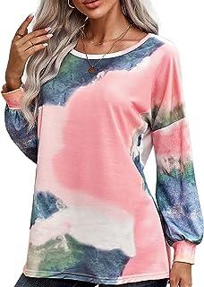 GOSOPIN Women Floral Printed Sweatshirt Casual Long Sleeve Drawstring Blouse Tops