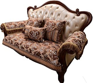 Sideli Luxury Chenille Jacquard Sofa Slipcover Anti-Slip Sectional Furniture Protector Petproof(35