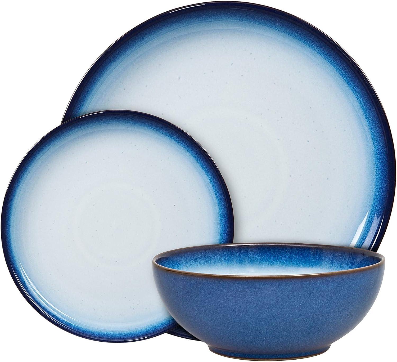 人気激安 Denby Blue Haze 激安挑戦中 12 Piece Coupe Tableware Set