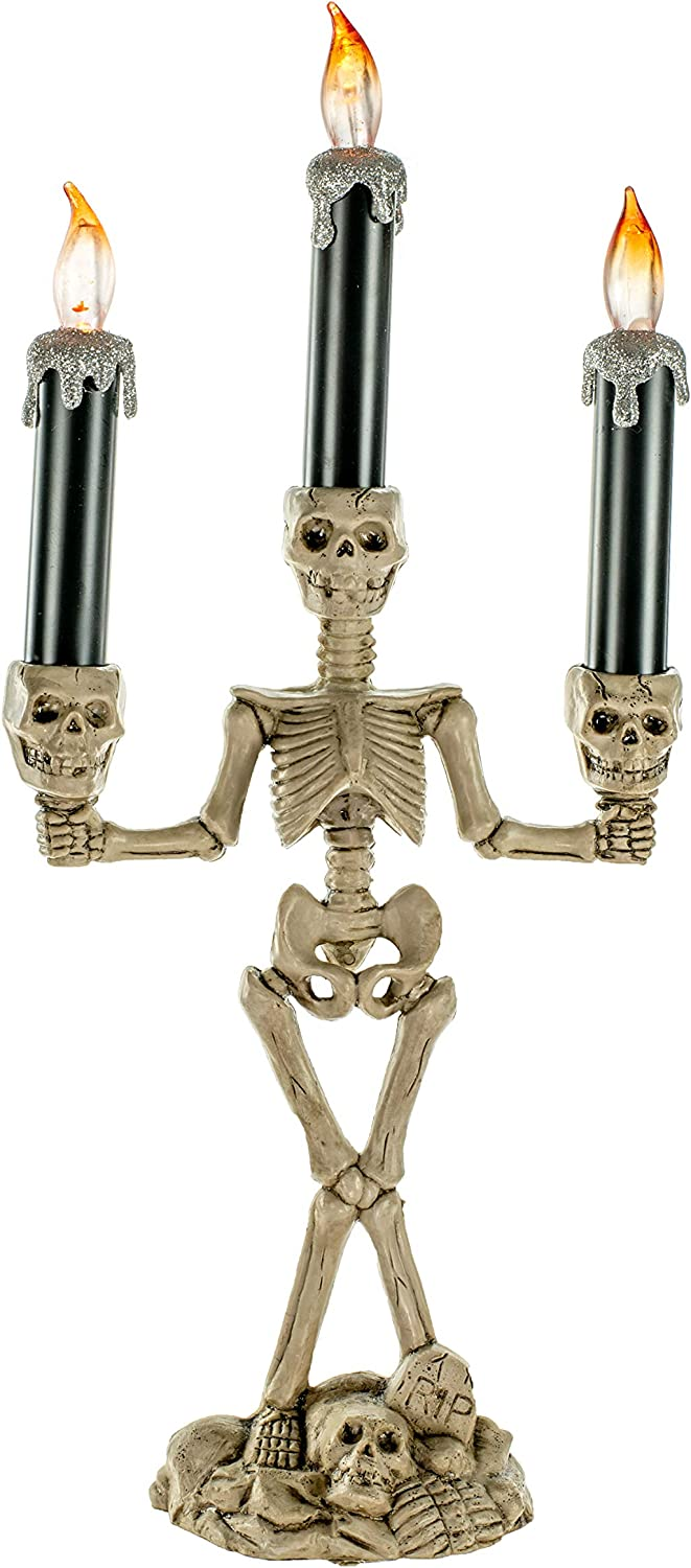 JJ's Holiday Gifts 14.25'' Light Artificial Brown Skele Large-scale sale Max 89% OFF Standing