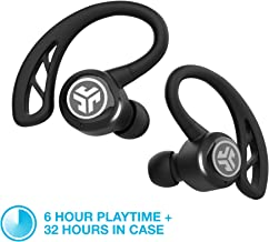 JLab Audio Epic Air Elite True Wireless Sport Earbuds | Headphones for Working Out, Sweatproof | 6-Hour Battery Life, 32-Hour Charging Case | Music Controls | Bluetooth Headphones | Black