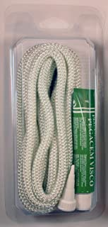 Kit reparación estufas y chimeneas cordón fibra de vidrio + pegamento (8mm)