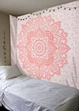 Madhu International Rose Gold Tapestry, Wall Hanging, Mandala Tapestry, Hippie Hippy Tapestries, Queen Mandala Tapestry, Dorm Decor Tapestries