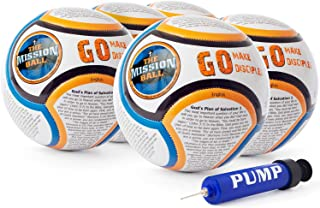 Soccer Ball - Biblical Gospel Sharing Tool Using The World's Most Popular Sport to Explain Christ - Perfect for Mission Trips, Shoeboxes, VBS, and Gifts (English)