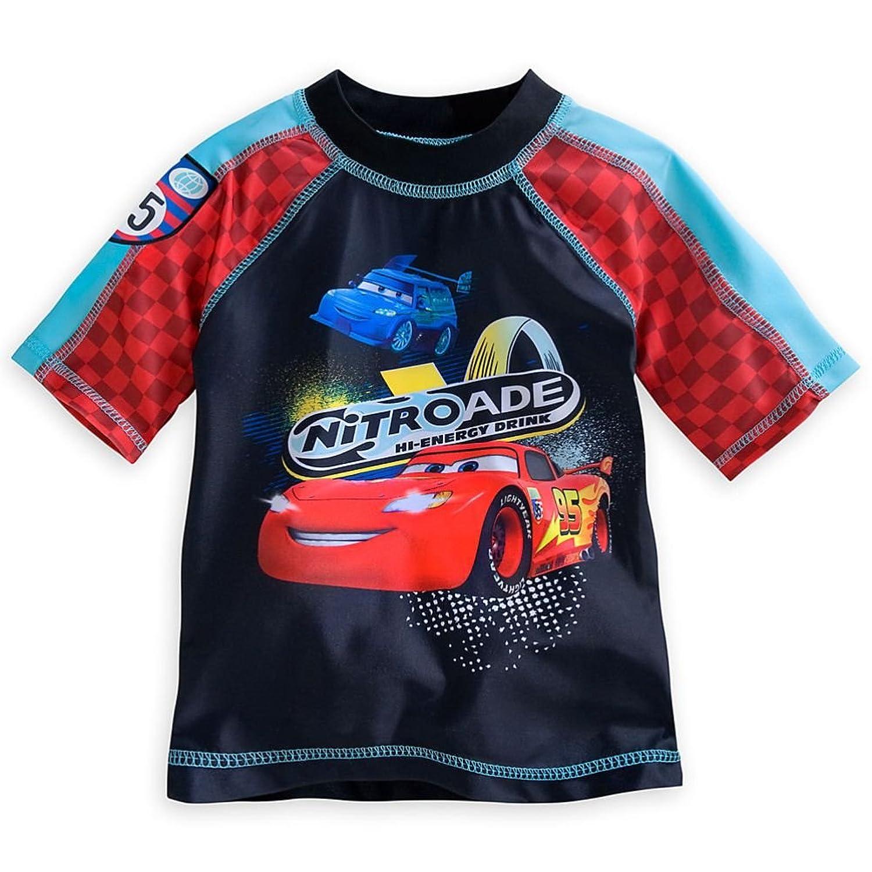 Disney Store Cars Lightning McQueen Little Boy Swimシャツラッシュガード5?/ 6
