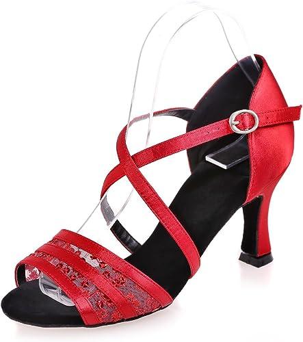 zapatos De Baile De La mujer Latina Flash Gasa De Interior Hebilla De Empalme Gran Tamaño Se Puede Personalizar