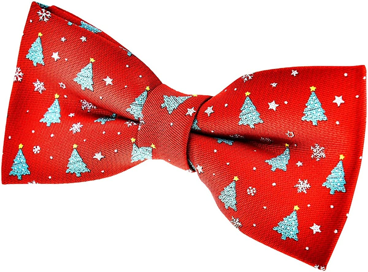 Retreez Christmas Tree and Limited Special Price Snowflakes Pattern Tie Pre-tied Bow Free Shipping New