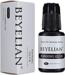 BEYELIAN Fanning Eyelash Extension Adhesive 5ML Fan Lashing Glue 1-2 sec Fast Drying 6-8 Weeks Long Retention Professional...
