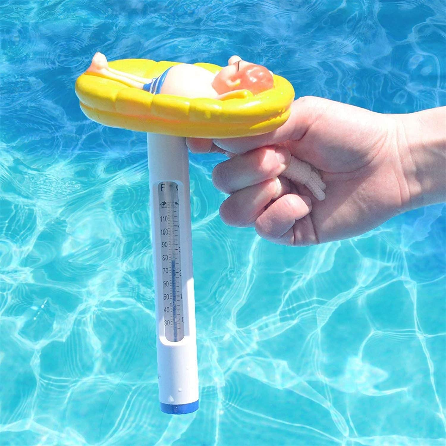 Spas Hot Tubs Water Thermometer Aquarium,for Outdoor /& Indoor Swimming Pools Aquariums /& Fish Ponds as Shown Pool Thermometer Large Floating Water Temperature Thermometers with String