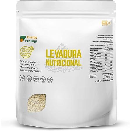 Energy Feelings   Levadura Nutricional en Copos con Vitamina B   Vegana   Sin Gluten   250g