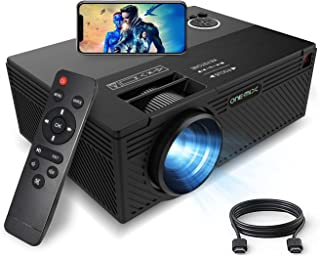 ONE·MIX Mini Proyector,Portátil vídeo-Projector, Multimedia Home Theater Movie Projector,Compatible with Full HD 1080P HDM...