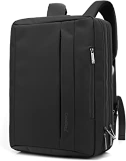 CoolBELL Bolso bandolera / mochila / maletín convertible de 15,6 pulgadas, tela Oxford, multiusos, ideal para ordenador portátil / MacBook / tablet, unisex negro Negro 17,3 pulgadas