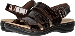 Brown Patent Croc Synthetic