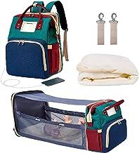 MYWILON - Mochila cambiador 3 en 1 para bebé y mamá – Gran capacidad – Bolsa de pañales multifunción impermeable – Bolsa de viaje con cama para bebé (Multicolor)