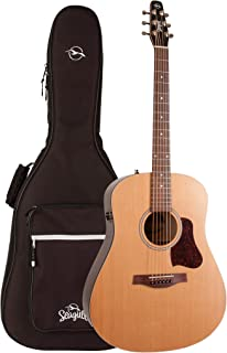Seagull S6 Original Slim QIT Acoustic Electric Guitar with Gig Bag (46416)