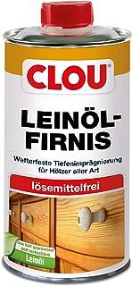CLOU Leinöl-Firnis: Imprägnierender Tiefenschutz, kaltgepresst und verkocht für Holz innen und außen, farblos, 0,50 L