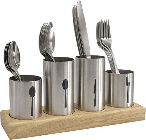 Sorbus Silverware Holder with Caddy for Spoons, Knives Forks, etc — Ideal for Kitchen, Dining, Entertaining, Buffet, ...