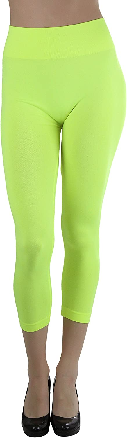 ToBeInStyle Women's Footless Classic Seamless Style Elastic Microfiber Lightweight Stretch Leggings