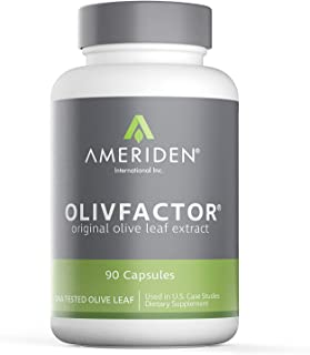OLIVFACTOR- Original Olive Leaf Extract-DNA Tested Potent 20% Standardized Active Oleuropein 90 Vcaps 525mgs