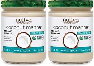 Nutiva Organic Coconut Manna, Coconut, 15 Ounce (Pack of 2)