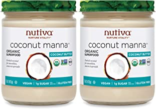 Nutiva Organic Coconut Manna, Coconut, (Pack of 2), Original, 30 Ounce