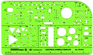 Alvin, TD1515, Electric/Electronic Template, Size: 5.25