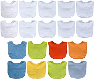 Neat Solutions Solid Terry Feeder Bibs - Boy - 18 Count