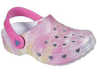 SKECHERS KIDS Foamies Heart Charmer Tie-Dye Splash Clog 308010N (Toddler)