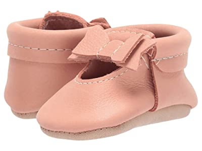 Freshly Picked Papaya Ballet Flat Bow Mocc (Infant/Toddler) (Coral) Girl
