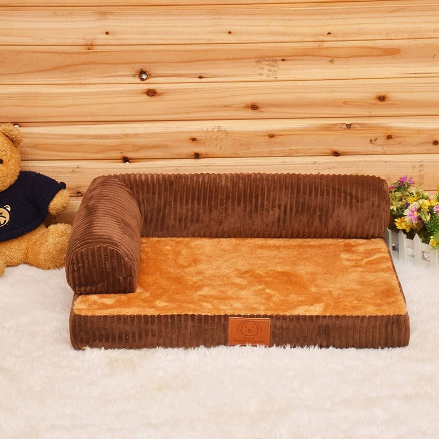 Deluxe Orthopedic Memory Foam Sofa Lounge Dog Bed (Size   M685717cm)