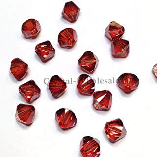 144 pcs Swarovski crystal 5328 / 5301 4mm Crystal Red Magma (001 REDM) Genuine Loose Bicone Beads