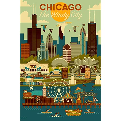 Vintage Chicago Poster: Amazon.com
