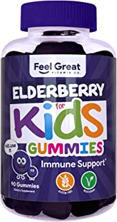 Sponsored Ad - Feel Great Vitamin Co. Elderberry Gummies for Kids | Immune Support | Natural Antioxidant Immune Booster | ...