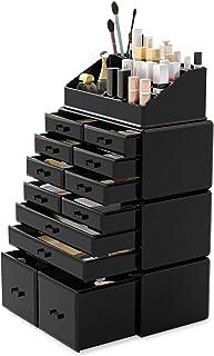 ردایر آرایشی سازماندهی لوازم آرایشی و بهداشتی صندوق های اداری جعبه های نمایش جعبه با 12 قطعه (سیاه و سفید)