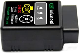 Glumes OBD2 Bluetooth Diagnostic Scan Tool, Mini OBDII Scanner-Check Engine Light Code Reader Bluetooth Pro OBDII Scan Tool Support Android/Windows Time Engine Sensor Data