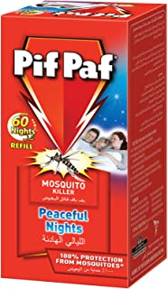 Pif Paf Mosquito and Fly Killer Liquid Electrical Device Refill 60 Night