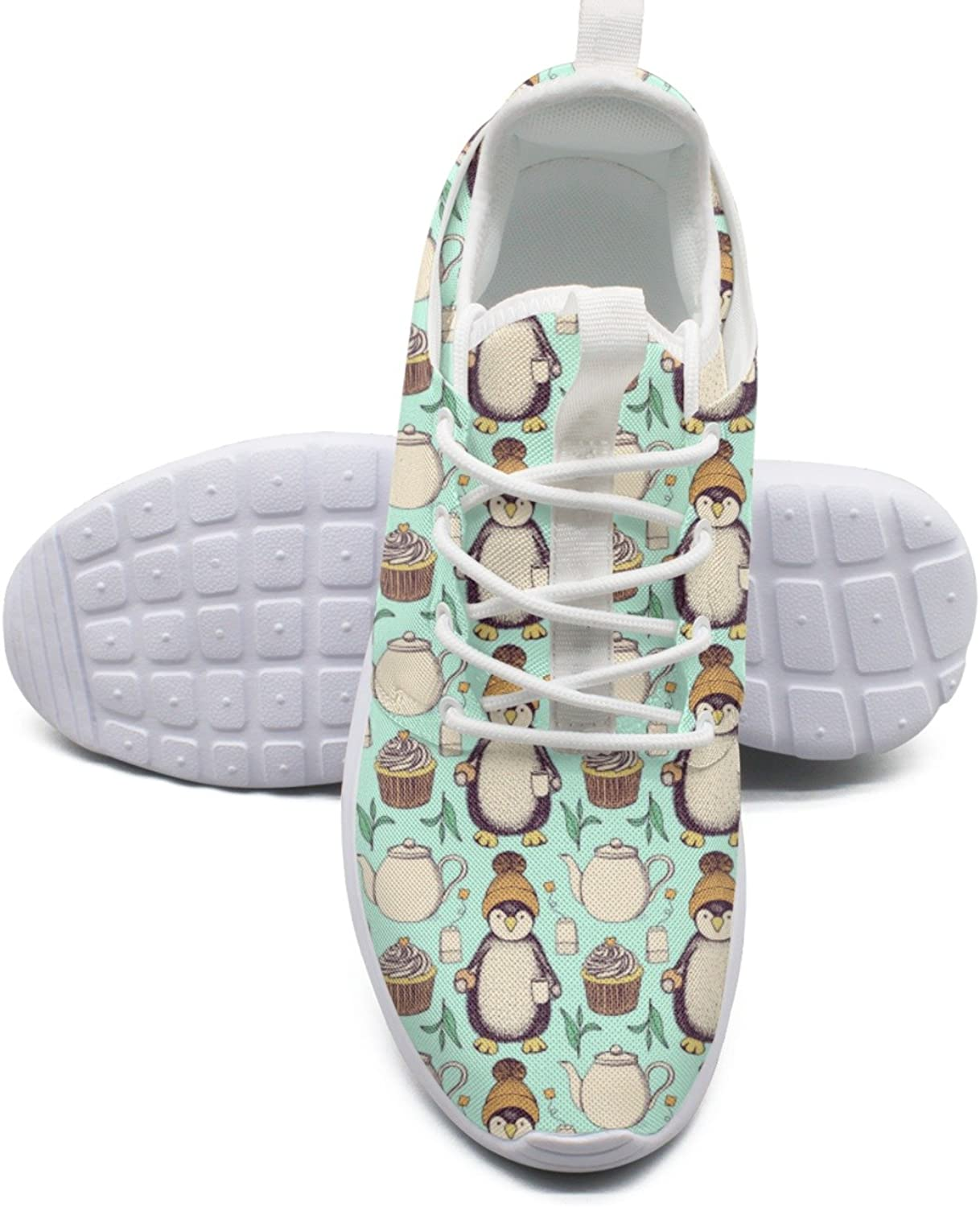 ERSER Pinguin in Hat with Tea Green Weighted Running shoes Women