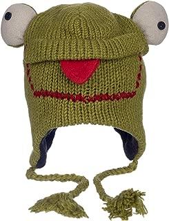 Paper High Women's Fun Frog Handmade Woollen Animal Hat with Fleece Lining