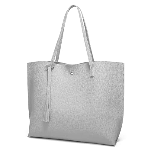 Women s Soft Leather Tote Shoulder Bag from Dreubea 6ae752d1c8ffe