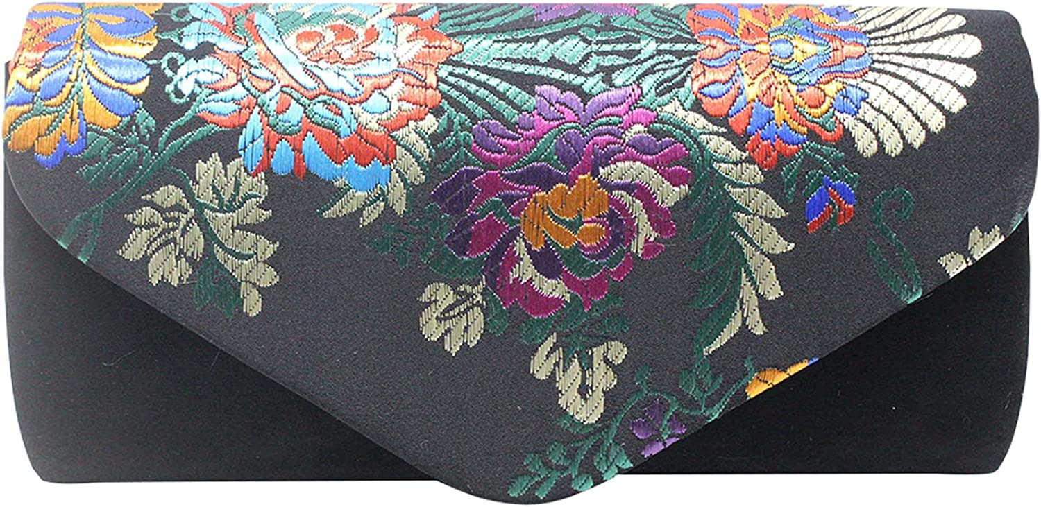 Small Embroidered Clutch Purse Ethnic Evening Ranking 5 ☆ very popular TOP8 Embroid Bag Flap