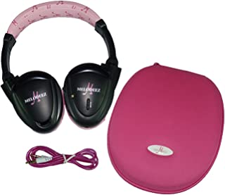 Wisconsin Auto Supply MDZHP-FF-P-(1) Pink Wireless Headphone (2 Channel Fold Flat DVD Player with Case and 3.5 mm Auxiliary Cord)
