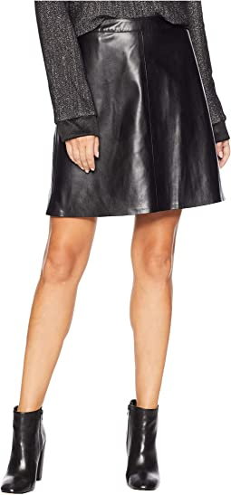 Back Zip Pleather Skirt
