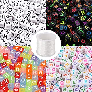 Trimits Kids Crafts 100 Pack White /& Coloured Letter Round Alphabet Beads