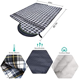CANWAY Sleeping Bag with Compression Sack, Lightweight and Waterproof for Warm & Cold Weather, Comfort for 4 Seasons ...
